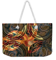 Optical Abstraction Weekender Tote Bag by Liz Alderdice