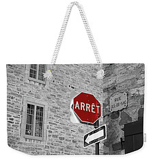 Optical Illusion, Quebec City Weekender Tote Bag