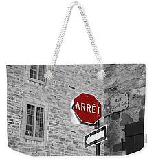 Optical Illusion, Quebec City Weekender Tote Bag by Brooke T Ryan