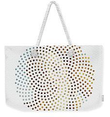 Weekender Tote Bag featuring the digital art Optical Illusions - Famous Work Of Art 2 by Klara Acel
