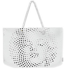 Weekender Tote Bag featuring the digital art Optical Illusions - Iconical People 1 by Klara Acel