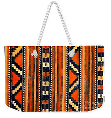 Orange Abstact Pattern Lines And Stripes Weekender Tote Bag