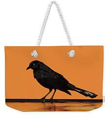 Orange And Black Bird Weekender Tote Bag
