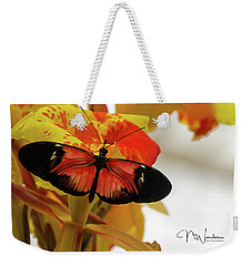 Orange And Black Butterfly Weekender Tote Bag