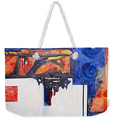 Orange And Blue Weekender Tote Bag