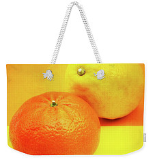 Orange And Lemon Weekender Tote Bag by Wim Lanclus