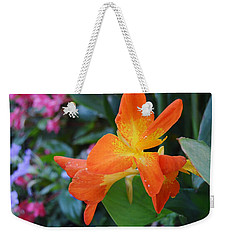 Orange And Yellow Canna Lily 2  Weekender Tote Bag by Warren Thompson