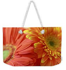 Orange And Yellow Daisies Weekender Tote Bag by Angela Murdock