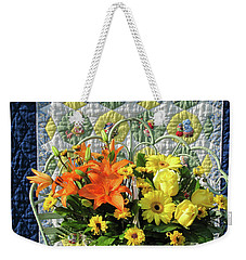 Weekender Tote Bag featuring the photograph Orange And Yellow Delights by Nancy Lee Moran