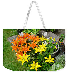 Orange And Yellow Lilies Weekender Tote Bag