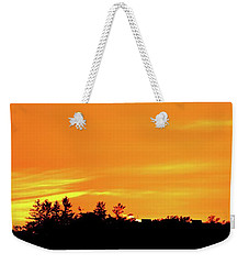 Weekender Tote Bag featuring the photograph Orange And Yellow Sky  by Lyle Crump