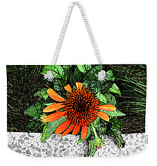 Weekender Tote Bag featuring the photograph Orange At Highline Nyc by Joan  Minchak