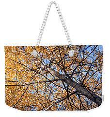 Orange Autumn Tree. Weekender Tote Bag by Teemu Tretjakov