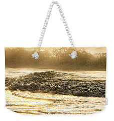 Weekender Tote Bag featuring the photograph Orange Beach Sunrise With Wave by John McGraw