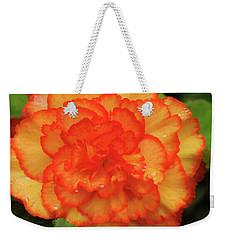 Weekender Tote Bag featuring the photograph Orange Begonia by Haleh Mahbod
