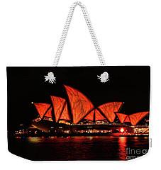 Orange Blast Weekender Tote Bag by Diana Mary Sharpton