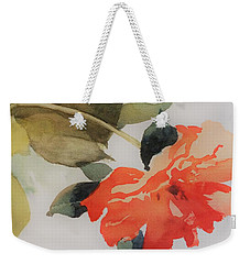 Weekender Tote Bag featuring the painting Orange Blossom Special by Elizabeth Carr