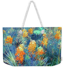 Orange Bonnets Weekender Tote Bag by Ellen O'Reilly