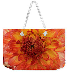 Orange Bright Weekender Tote Bag by Arlene Carmel