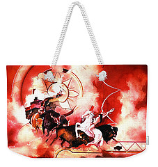 Orange Buffalo Spirit Weekender Tote Bag