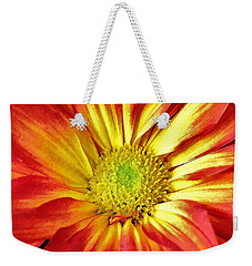 Weekender Tote Bag featuring the photograph Orange Burst by Allen Beatty