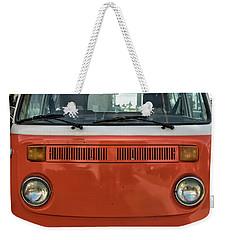 Orange Bus Weekender Tote Bag