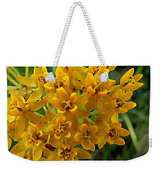 Weekender Tote Bag featuring the digital art Orange Butterfly Weed by Shelli Fitzpatrick