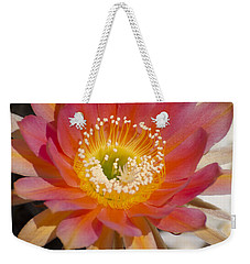 Orange Cactus Flower Weekender Tote Bag by Jim and Emily Bush