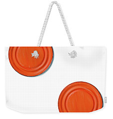 Orange Can Lid Times Two Weekender Tote Bag