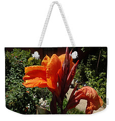 Weekender Tote Bag featuring the photograph Orange Canna Lily by Rod Ismay