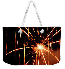 Orange Chetola Fireworks Weekender Tote Bag