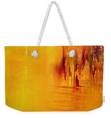 Orange Weekender Tote Bag by Claire Bull