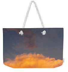 Orange Cloud With Grey Puffs Weekender Tote Bag