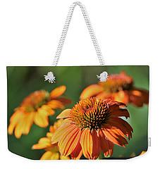 Orange Cone Flowers In Morning Light Weekender Tote Bag