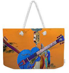 Orange Crossroads Weekender Tote Bag