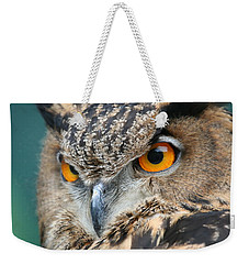 Weekender Tote Bag featuring the photograph Orange Crush by Laddie Halupa