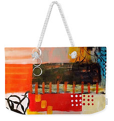 Weekender Tote Bag featuring the painting Orange Crush by Suzzanna Frank