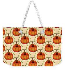 Orange Curvy Autumn Pumpkin Pattern Weekender Tote Bag by MM Anderson