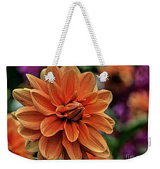 Orange Dahlias Weekender Tote Bag by Shirley Mangini