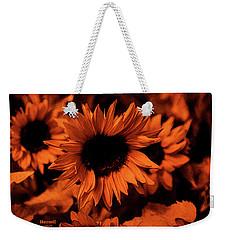 Orange  Weekender Tote Bag by Dennis Baswell