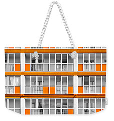Orange Exterior Decoration Details Of Modern Flats Weekender Tote Bag