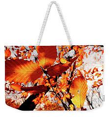 Orange Fall Leaves Weekender Tote Bag