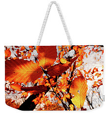 Orange Fall Leaves Weekender Tote Bag