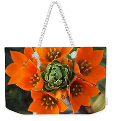 Orange Flower Zoom Weekender Tote Bag