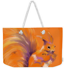 Orange Forest Squirrel Weekender Tote Bag