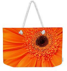 Orange Gerbera Daisy Weekender Tote Bag by Kathy M Krause