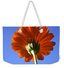 Orange Gerbera Flower Weekender Tote Bag by Ralph A  Ledergerber-Photography