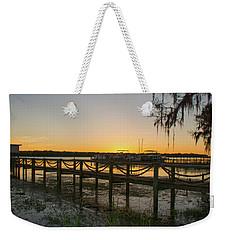 Florida - St Johns River Sunset Weekender Tote Bag by John Black