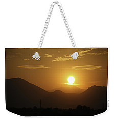 Weekender Tote Bag featuring the photograph Golden Sunset by Marilyn Hunt