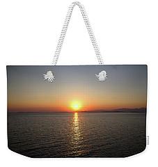Orange Horizon Weekender Tote Bag